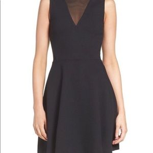 👗 French Connection Black Ponte A-line Dress